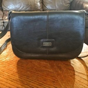 Crazy Horse by Liz Claiborne Brn Leather Bag